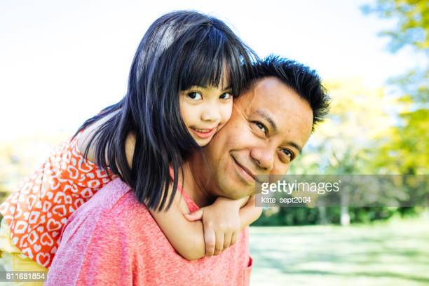 happy family of four - filipino family stock pictures, royalty-free photos & images