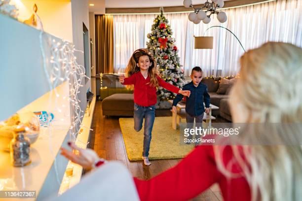 クリスマスに幸せな家族