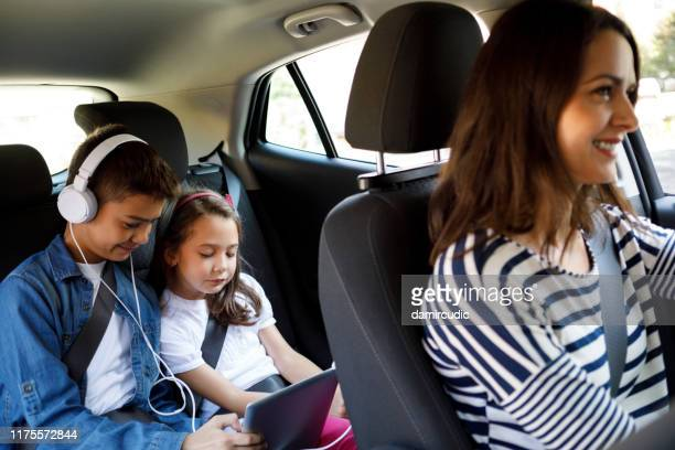 happy family on road trip - damircudic stock photos and pictures