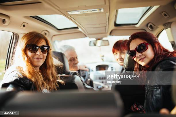 Glückliche Familie Road trip