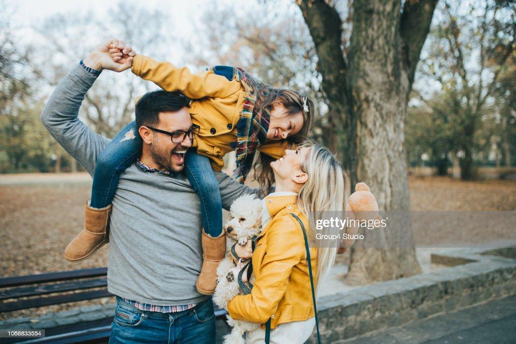 Happy family : Foto de stock