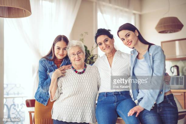 happy family - multigenerational family stock photos and pictures