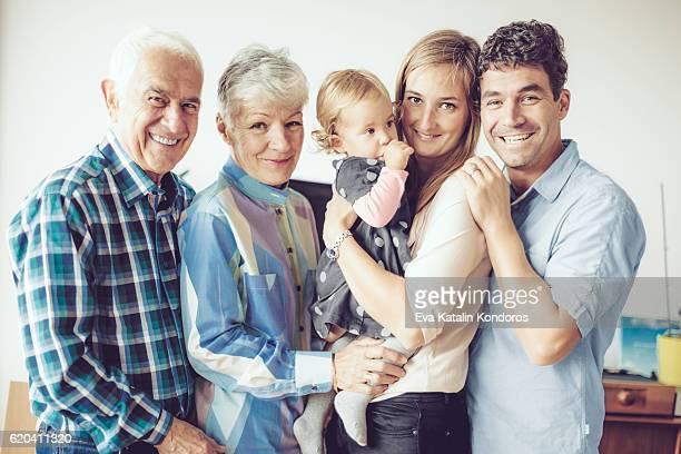 Glückliche Familien portrait