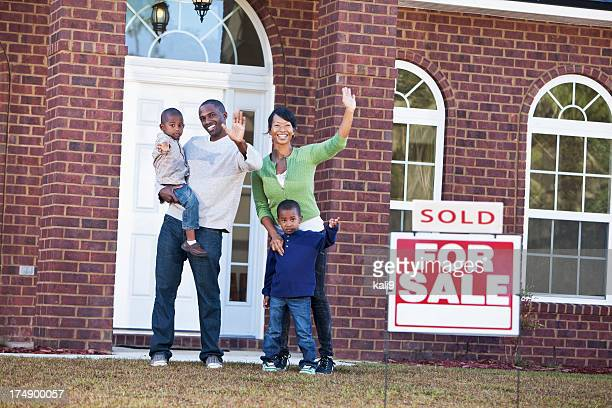 Happy family relocating