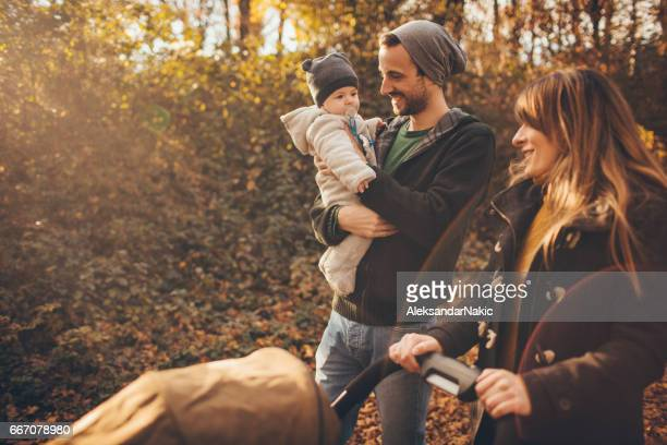 Happy family spending time outdoors