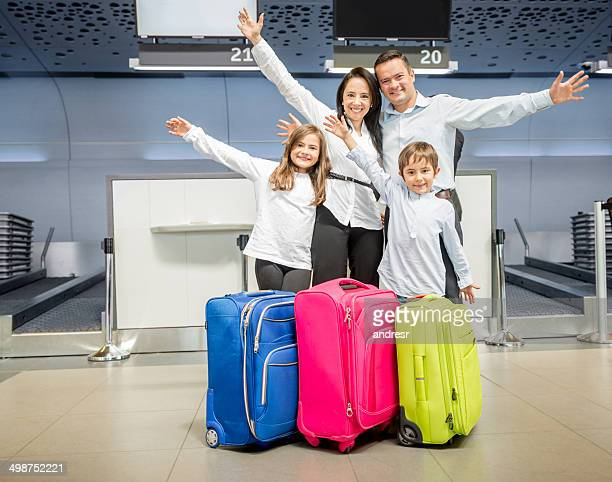 Happy family traveling