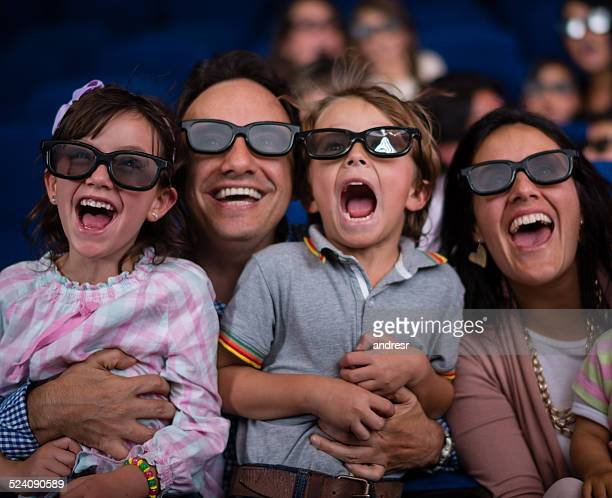 happy family watching a movie - 3d mom son stock photos and pictures