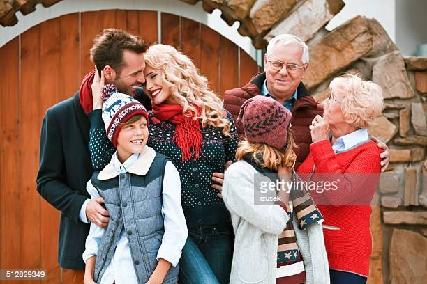 Happy family, Winter Portrait