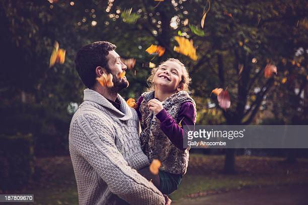 Happy Father and daughter outdoors together