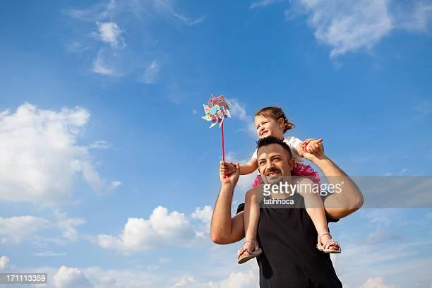 Heureux père et sa fille