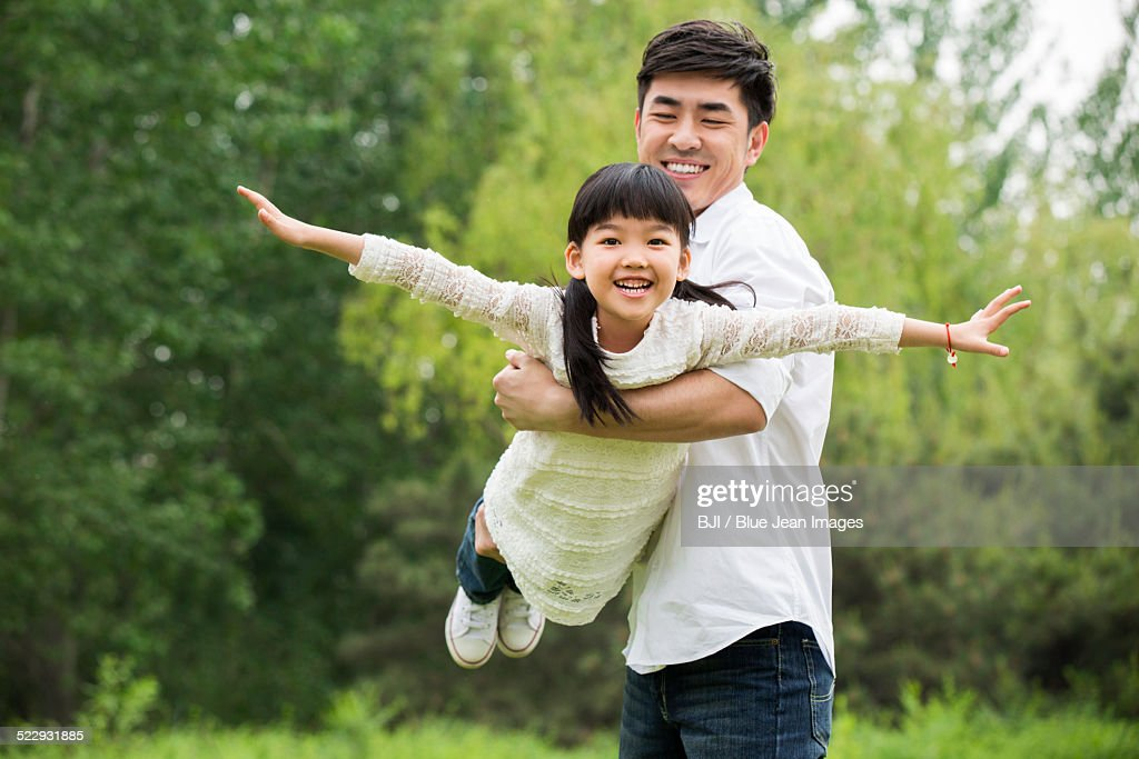 Happy father and daughter : Photo