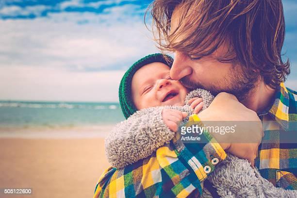 Feliz Padre e hijo
