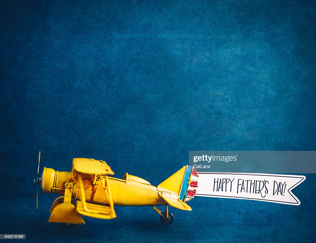Vintage Airplane With Handmade Banner Stock Photo