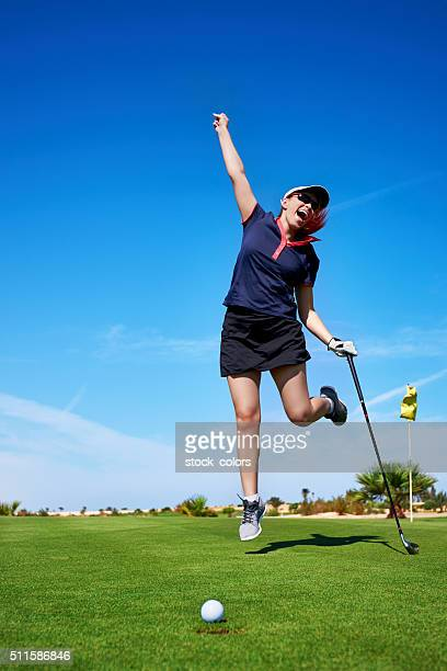 happy feeling about the golf game