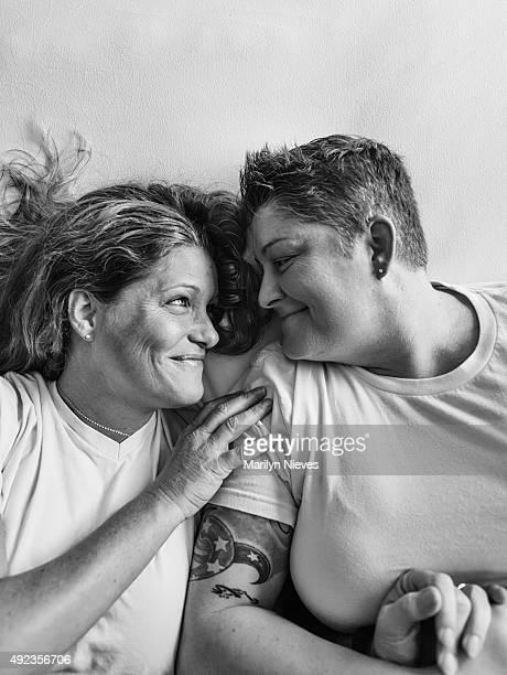 happy female couple