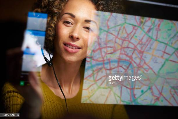 happy female dispatcher