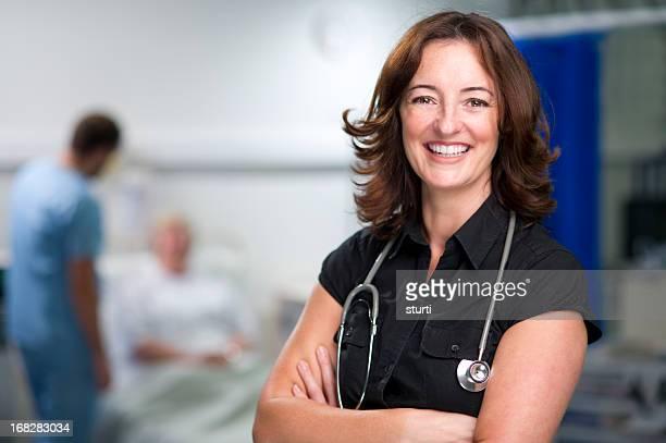 happy female doc