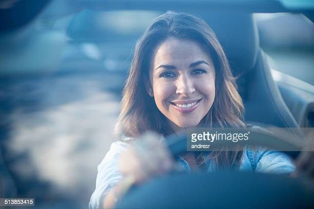 Happy female driver