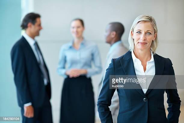 Happy female executive