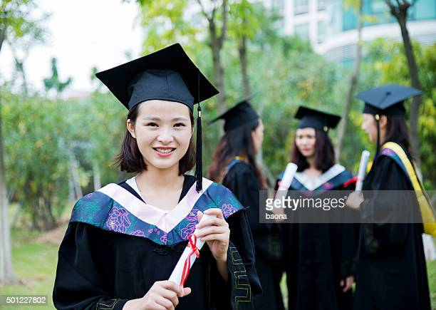 Happy female graduate