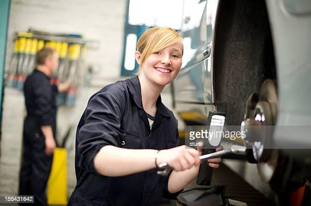 happy female mechanic