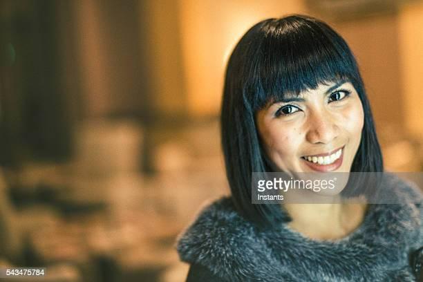happy filipino businesswoman - filipino culture stock photos and pictures