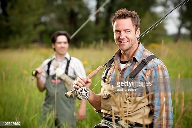 Happy Fly Fisherman Portrait