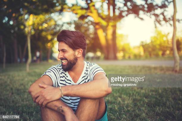 happy free man - striped shirt stock pictures, royalty-free photos & images