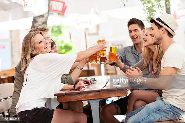 Happy Friends Drinking Beer