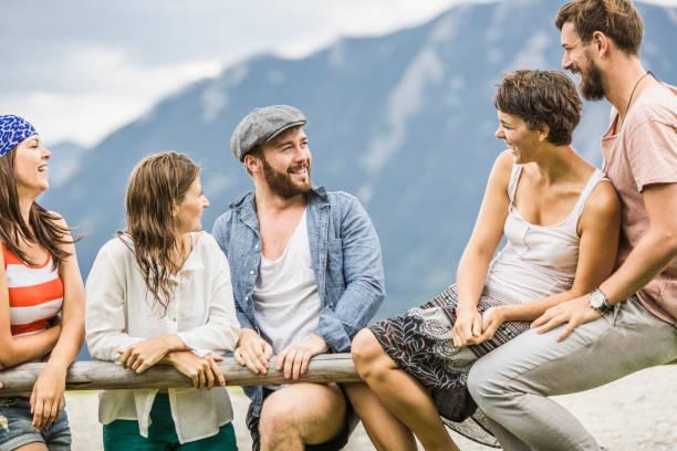 Happy friends in the mountains, Achenkirch, Austria