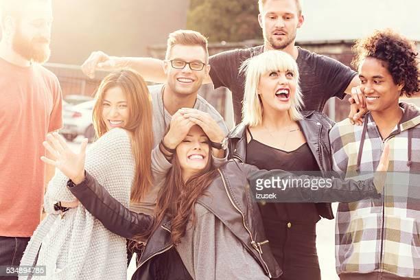 Happy Friends, outdoor portrait