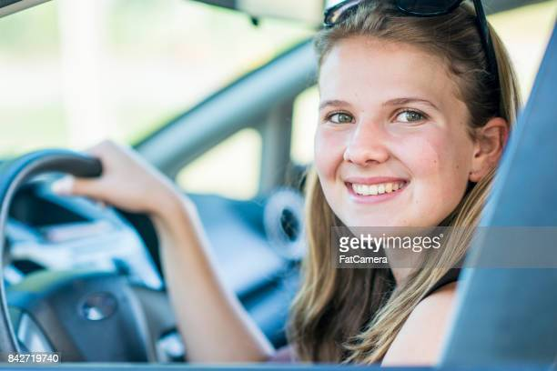 Happy Girl Driving