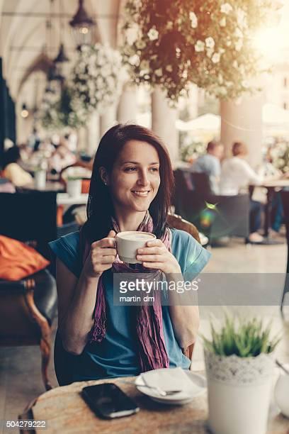 Feliz chica en Cracovia