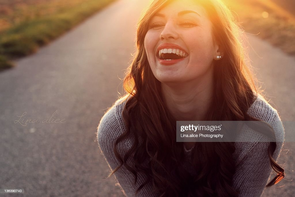 Happy girl laughing : Stock Photo