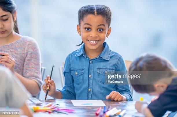 Happy Girl Painting