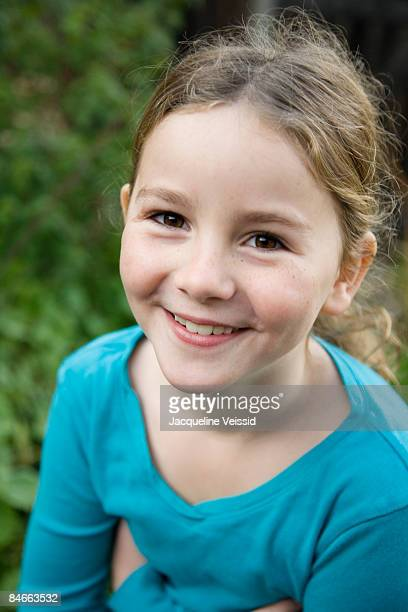 happy girl (8 years old) - 8 9 years stock pictures, royalty-free photos & images