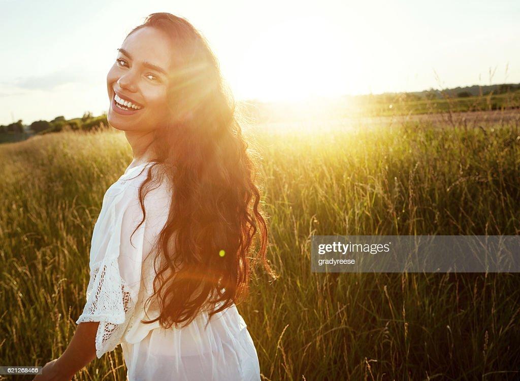 Happy girls are the prettiest : Stock Photo