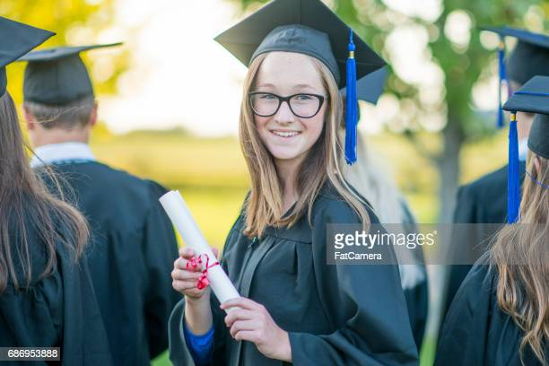 happy graduate - secondary school stock pictures, royalty-free photos & images