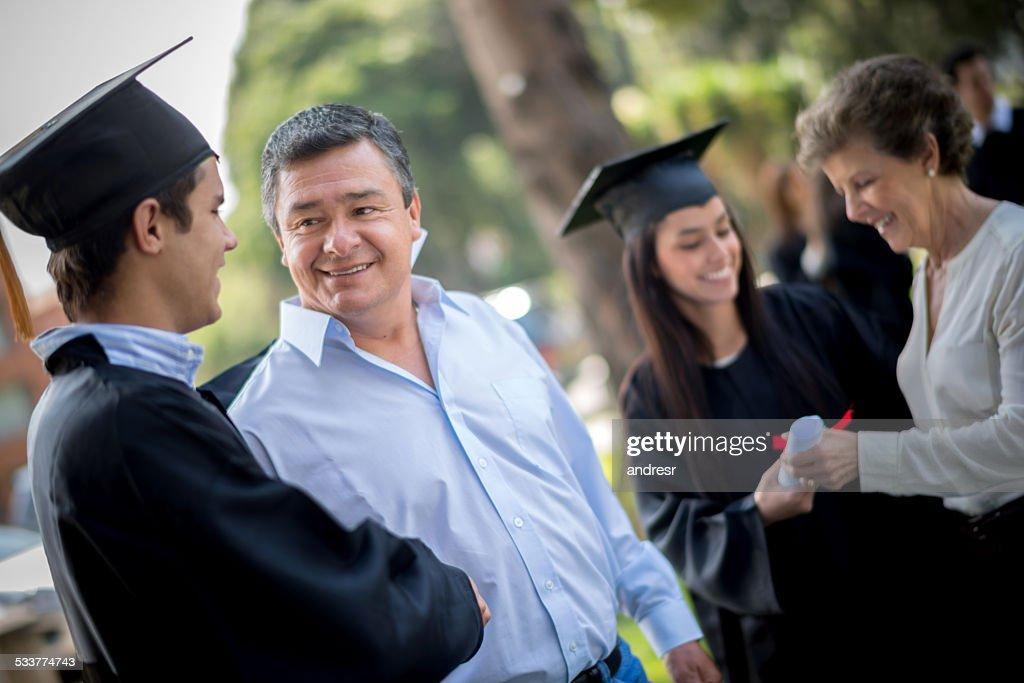 Felice giorno della laurea : Foto stock