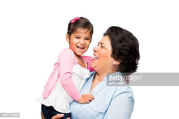 Feliz abuela y granddaughter