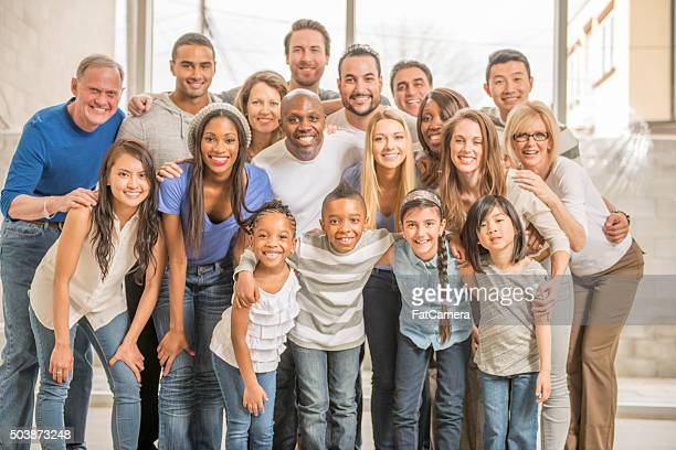 Happy Group at a Family Reunion