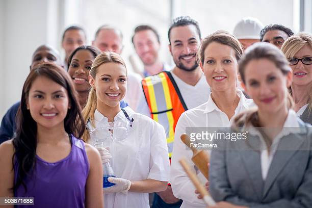 Happy Group of Professional Workers