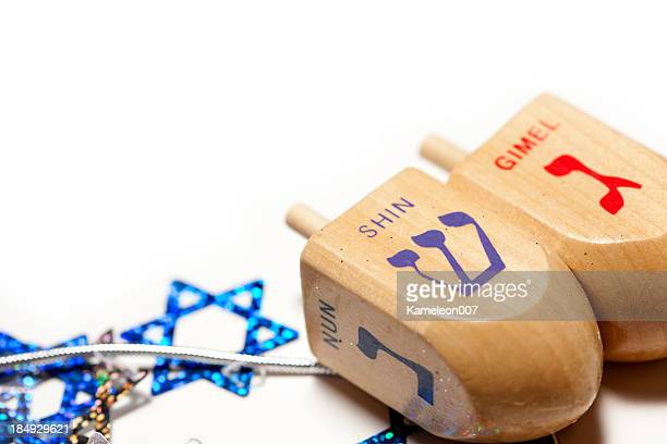 happy hanukkah - dreidel stock photos and pictures