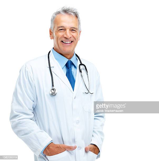 happy healthcare practitioner - white background stock pictures, royalty-free photos & images
