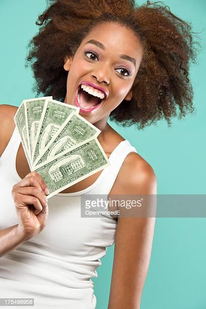Happy Holding Money