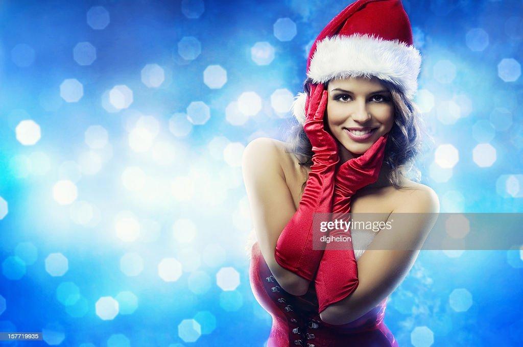 Happy Holidays - Christmas girl : Stock Photo