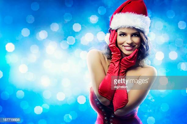 happy holidays - christmas girl - happy holidays stock photos and pictures