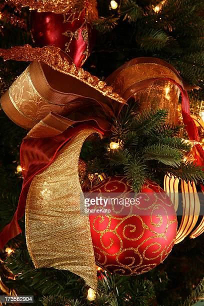 happy holidays christmas tree decoration with ornament - happy holidays stock photos and pictures