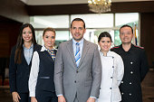 Happy hotel staff