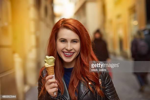 happy ice cream moment